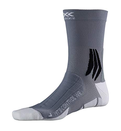 X-Socks Mountain Bike Control Water Repellent Socks, Unisex – Adulto, Arctic White/Dolomite Grey, 39-41