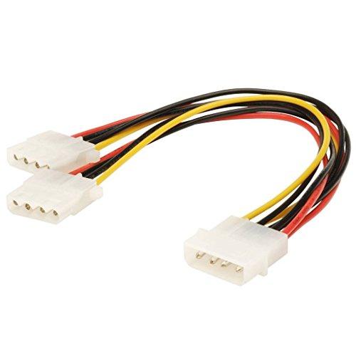 adaptare 34003 Netzteil Y-Kabel für 4-Polig IDE-/Molex-Strom-Stecker, 15 cm Mehrfarbig