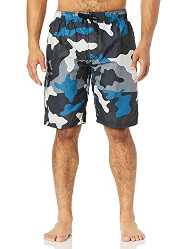 Kanu Surf Men's Miles Swim Trunks (Regular & Extended Sizes), Surf Camo Black, X-Large