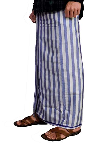Riyashree men's cotton lungi for men free size 2 meter MenLungi 005