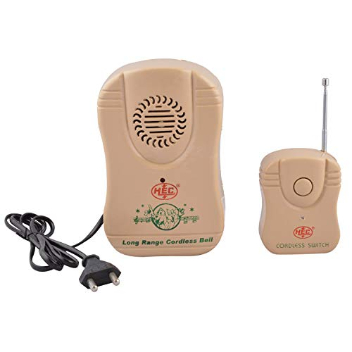 Pluto Accessories Wireless Remote Calling Bell for Office,Hard Plastic Body,Long Range,Cordless/Wireless Door Bell with Remote.Brown Color.Pack of 1 pc.