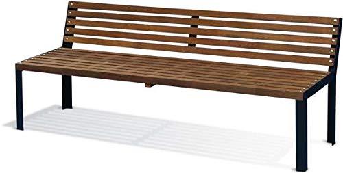 Banc de jardin en bois traité teinté Selekt