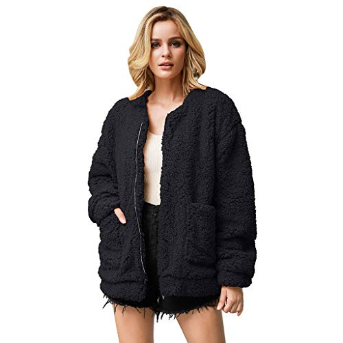 Great Features Of Hurrybuy Womens Fleece Fashion Open Front Cardigan Coat Jacket with Pockets Outwea...