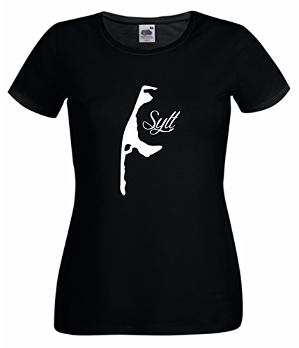 Damen T-Shirt Sylt Westerland schwarz L