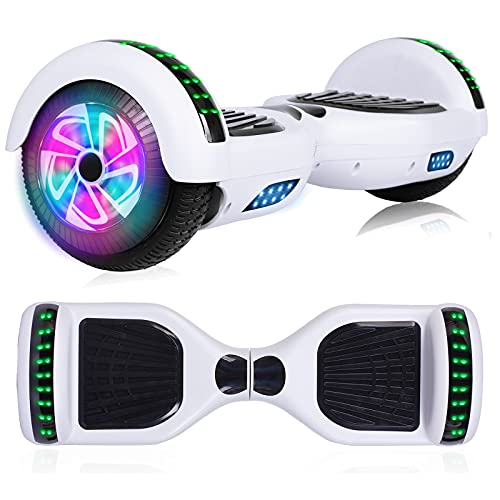 """YHR Hoverboard with Bluetooth Speaker, 6.5"""" Self Balancing Scooter with LED Wheels and LED Lights Hoverboards for Kids Adults"""