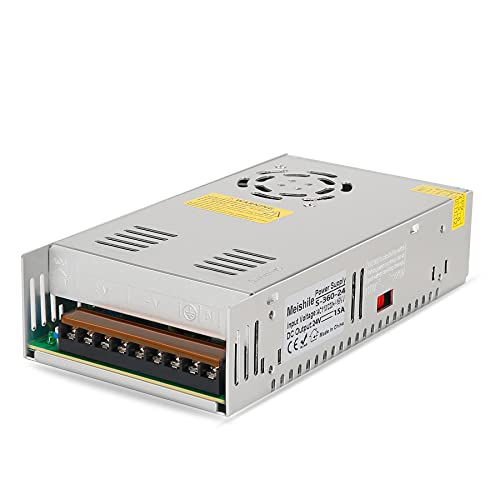 24V 15A 360W 110/220VAC-DC24V Universal Alimentatore Switching Stabilizzato è adatto per stampante 3D CCTV, Radio, Progetto Del Calcolatore, LED [Classe di efficienza energetica A]