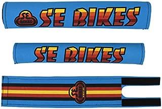 SE Racing BMX 3PC Pad Set Blue/Multi Color