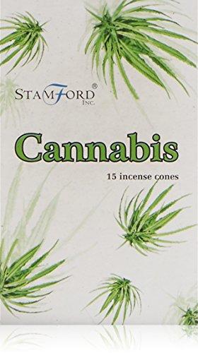 Imagen del productoStamford - Conos de Incienso con Aroma a Cannabis, Lote de 12 Paquetes