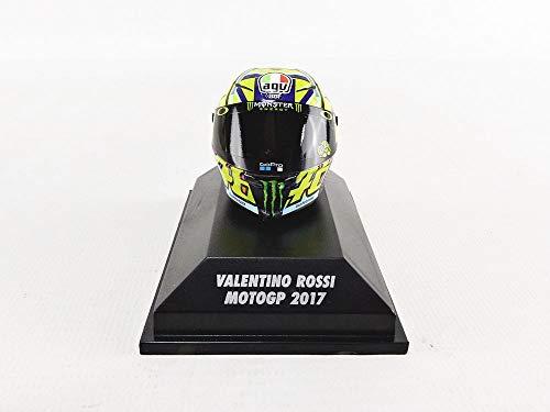 Minichamps 399170046 Valentino Rossi AGV - Casco MotoGP 2017, Multi