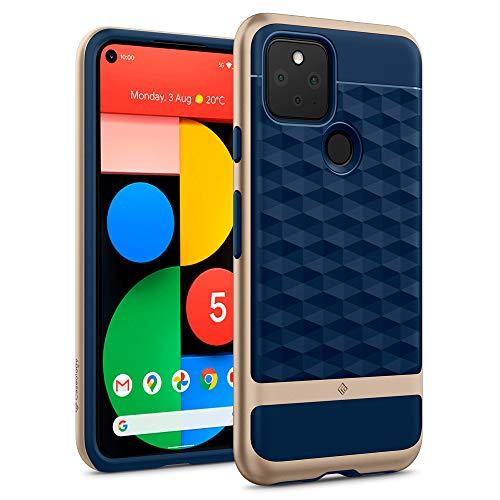 Hülleology Parallax Hülle Kompatibel mit Google Pixel 5 - Navy Blue