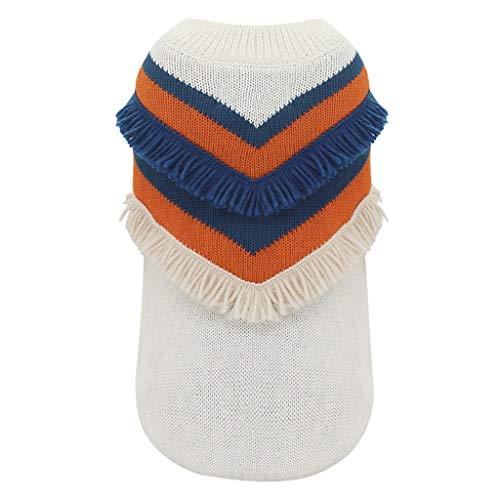 GYJ Pet Abbigliamento S/M/L/XL / 2XL Dog Autunno e Inverno Piccolo Cane Vestiti Caldi di Inverno Vestiti di Spessore Accogliente (Color : White, Size : XL)