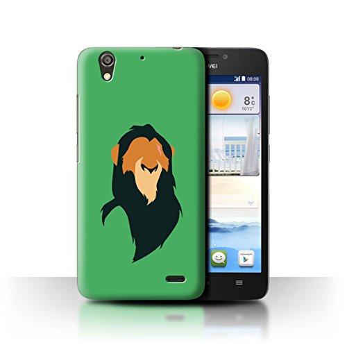 Hülle Für Huawei Ascend G630 Karikatur Afrikanische Tiere Scar Inspiriert Design Transparent Ultra Dünn Klar Hart Schutz Handyhülle Hülle