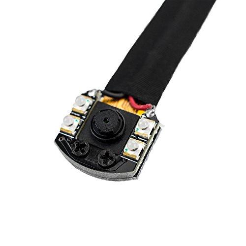 KOBERT-GOODS Wireless Knopfkamera S05NB mit WLAN Live Videoübertragung Nachtsicht mit 4 IR Überwachungskamera per APP Bedienbar mit IOS oder Android