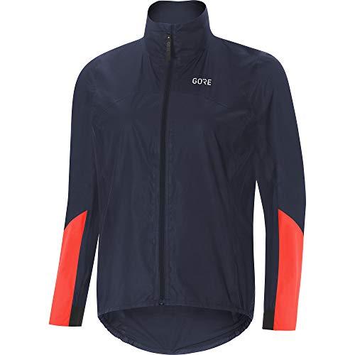 GORE Wear Womens Waterproof Cycling Jacket GORE Wear C7 Womens GORE Wear TEX SHAKEDRY 1985 Vis Jacket Size 34 Colour Storm BlueLumi Orange 100409