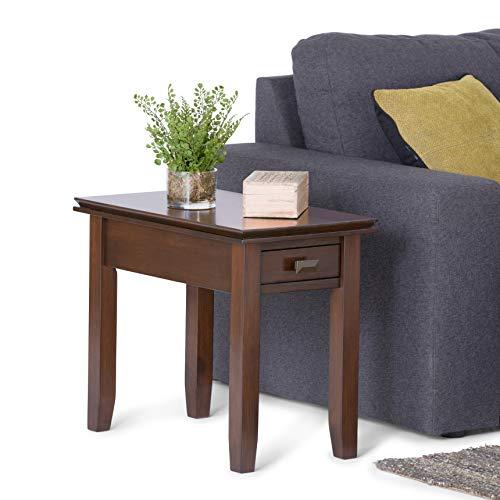 Simpli Home Artisan Narrow Side End Tables, Russet Brown