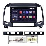 WY-CAR Navigation Multimédia Auto 9 Pouces pour Hyundai Santa Fe 2 2005-2012 Android 8.1 Autoradio Stéréo Navigation GPS WiFi Lien De Miroir RDS FM AM Bluetooth Audio Vidéo Commande Au Volant