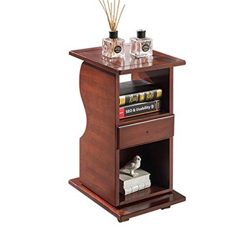 Tables basses Chariot à thé Canapé Amovible côté Salon Petite Mini Armoire latérale Table d'angle européen (Color : Brown, Size : 39 * 30 * 65cm)