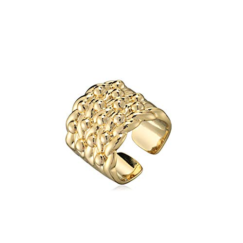 The Bling King Gold Adjustable Keeper Ring Men's Boy's Heavy Real Gold Plating