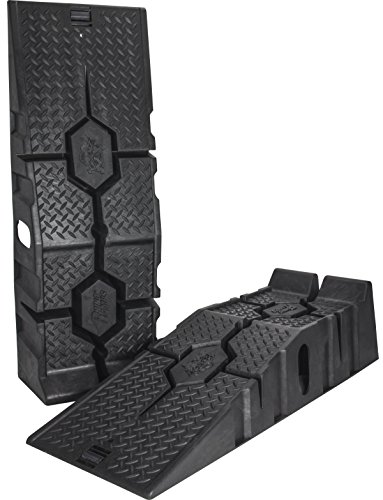 RhinoGear 11912 RhinoRamps MAX Vehicle Ramps - Set of 2 covid 19 (20 Ton Wide Truck Ramps coronavirus)