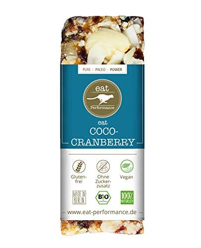 Paleo barrita coco (40g) de eat Performance (barrita de muesli orgánico, vegano, sin azúcar ni grano, sin gluten y sin lactosa)