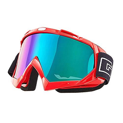 Mdurian Gafas de Moto Aviador Estilo piloto Motocicleta Gafas de esquí ATV Dirt Racing Scooter de Gafas de Sol con protección UV a Prueba de Polvo len Colorido