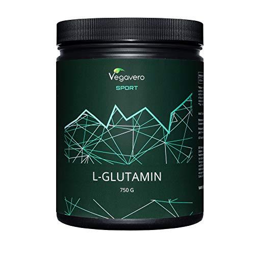 L-Glutamina Vegavero® Sport | PURA SIN ADITIVOS | 750 g en Polvo | Post Entreno | Recuperador Muscular | Dolor Muscular + Agujetas | L Glutamine | Post Workout | Vegana | De Fermentación