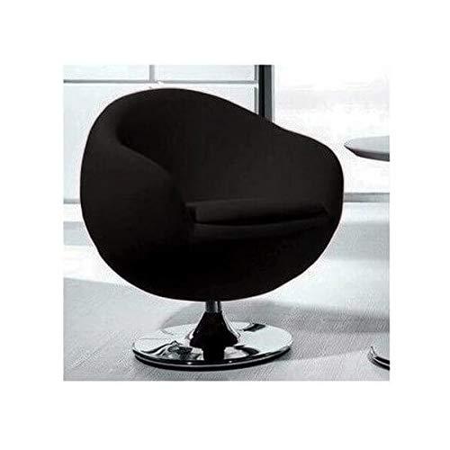 Ball - Sillón de diseño de tela, color negro