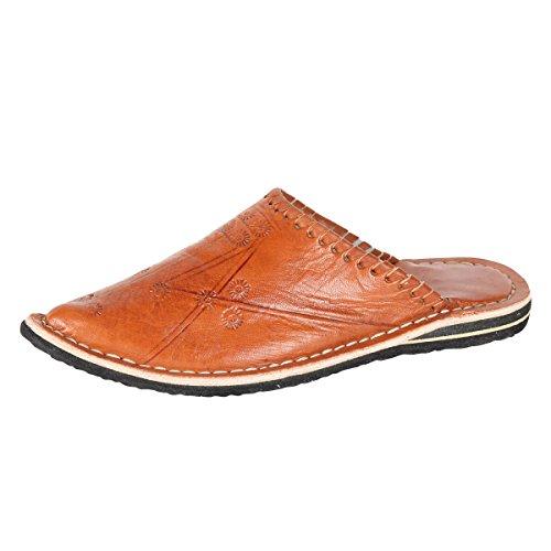 albena Marokko Galerie Unisex marokkanische Schuhe Leder Pantoffel Alibaba (43, Terra)