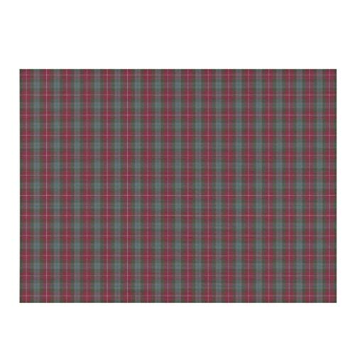 Dish Drying Mat,Fraser Red Weathered Tartan Absorbent Reversible Microfiber Mat Dish Dry Pad Protector for Kitchen Countertop 12x16inch