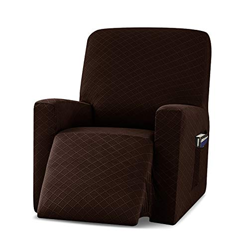 VanderHOME Funda Sillon Relax reclinable Elastica Completo Protector para Sillón Reclinable Cubierta Protectora Sillon Funda Universal Funda Sillon 1 Plaza café