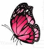 10 cm - Film adhésif résistant aux intempéries - Papillon rose B255 - Résistant aux UV et au lavage - Autocollant de voiture de qualité professionnelle