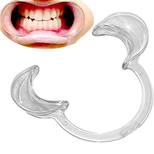 IVYRISE 10 PCS Size Medium 120×80×20mm Mouthpieces Retractor Mouth Opener for Speak Out Loud Games C-Shape Dental Tool Cheek Retractor Party Game Toys