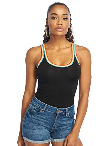 Only Body Rainbow Negro Mujer M Negro
