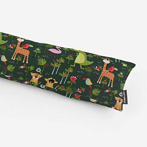 SCHÖNER LEBEN. Zugluftstopper Tiger Giraffe Krokodil grün bunt Verschiedene Größen, Auswahl:130cm Länge