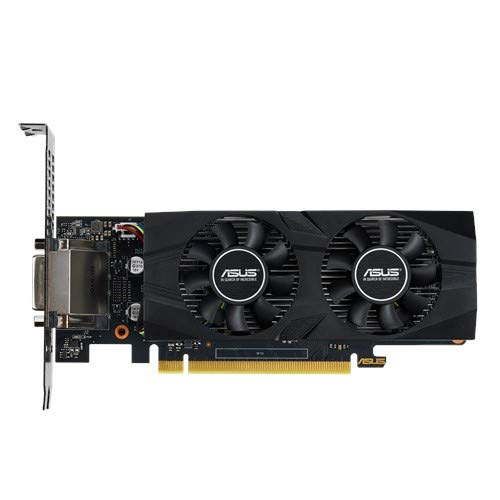 ASUS GeForce GTX 1650 OC (4 GB, GDDR5/PCI Express 3.0/1485 MHz, 1740 MHz, 8002 MHz, Low Profile) GTX1650-O4G-LP-BRK