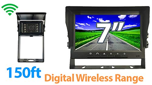 Tadibrothers 7 inch Monitor with Digital Wireless RV Backup Camera with Audio