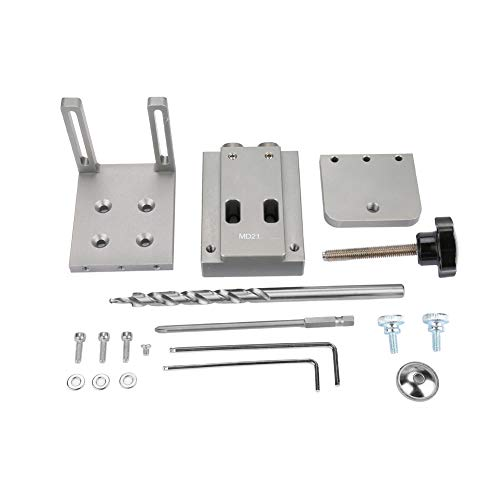 Stronerliou Mini Style Pocket Hole Jig Kit for Wood Working Step Drill Bit Set