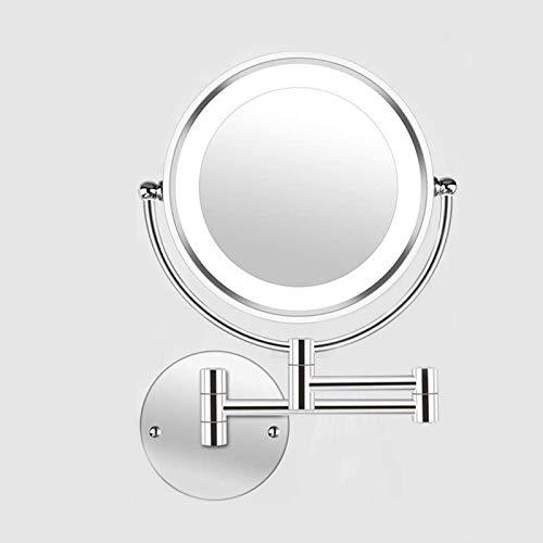 Miroir Grossissant Lumineux 10x avec Lumière LED Miroir de Maquillage Luminueux de Coiffeuse,Double Face Pivotant de 360°,Miroir Salle de Bain,Unisexe10X