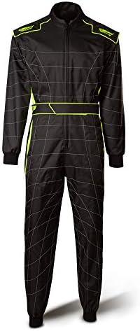 Speed Racewear Cordura Atlanta Cs 2 Overall Hochwertiger Kartoverall Schwarz Neongelb L Auto