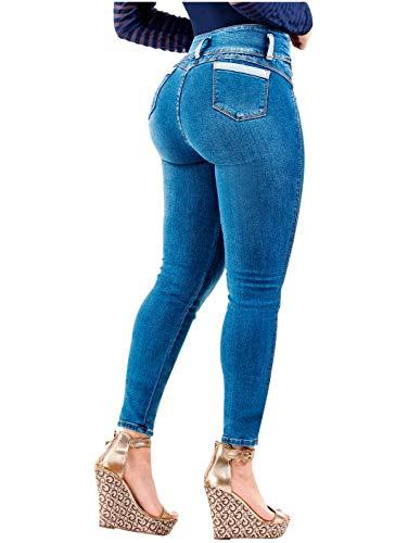 Laty Rose 2016 Jeans Colombianos Levanta Cola Blue Denim Butt Lifter Jeans  Light Blue 13