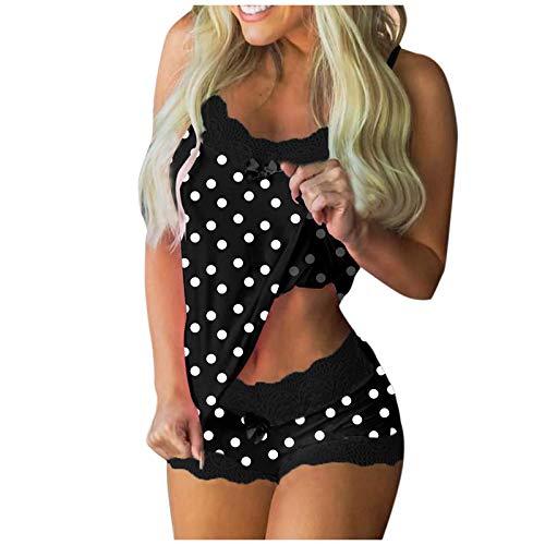 Sexy Kleider Damen Für Sex Nachthemd Disney Desouses Für Frauen Spitzen Nachthemd Für Damen Top Damen Nachtwäsche Untergenommen Für Frauen Reizwäsche Unterwäsche Damen (P1-Schwarz,M)