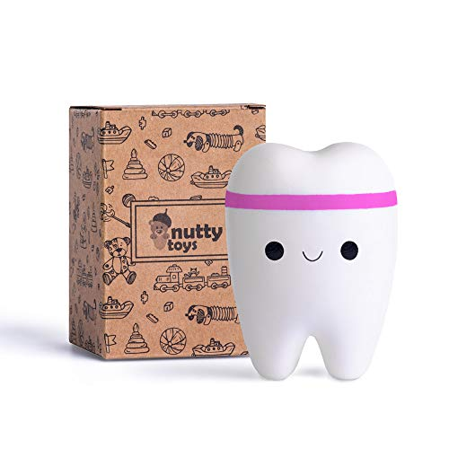 NUTTY TOYS Super Slow Rising Jumbo Squishy Tooth - Soft & Scented Kawaii -...