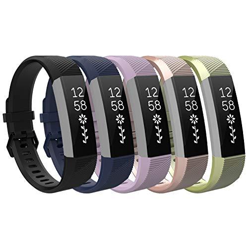 TiMOVO Pulsera Compatible con Fitbit Alta/Alta HR/Ace, [5-Pack] Pulsera de Silicona, Correa de Reloj Deportivo, Banda de Reloj de Silicona, Talla pequeña - Multi Color