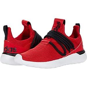 adidas Lite Racer Adapt 3.0 Running Shoe, Scarlet/Black/White, 2 US Unisex Little Kid