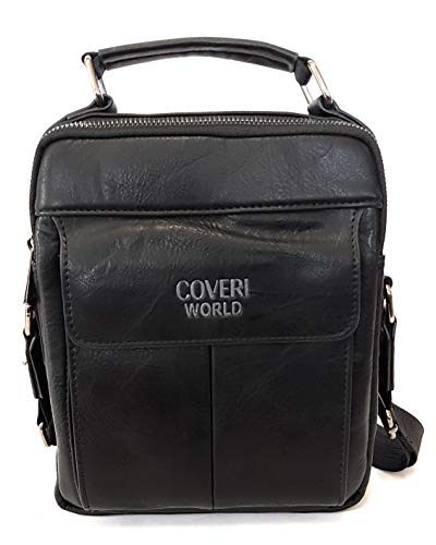 Coveri World CW1909 - Bolso Bandolera para Hombre, Color Negro