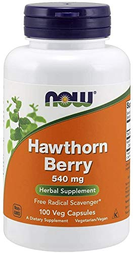 NOW Supplements, Hawthorn Berry 540 mg, Free Radical Scavenger*, Herbal Supplement, 100 Capsules