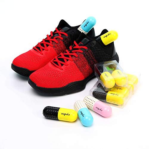 Cozy Dio Shoe Deodorizer Pills Natural Odor Eliminator for Sneakers,Gym Bag,Boxing Gloves,Locker and bathroom Sneaker cleaner One Pair Last 18 months (Pink)