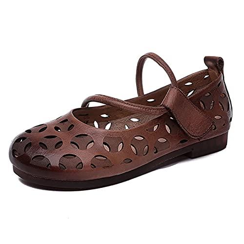 ZYGF Damen-Sandalen, Sandalen für Frauen, hohl, atmungsaktiv und bequem, Damen-Gleitsandalen gute Feuchtigkeitsaufnahme für Strand, Pool, Kreuzfahrt, Reisen