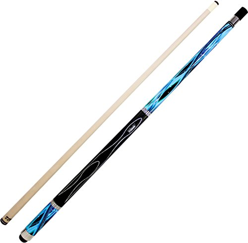 Cuetec Gen-Tek Series 58' 2-Piece Canadian Maple Billiard/Pool Cue, Blue Wave