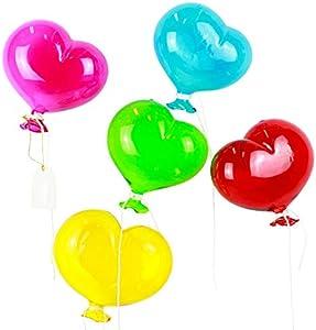 5 globos de cristal corazón para colgar - Original Murano Glass OMG